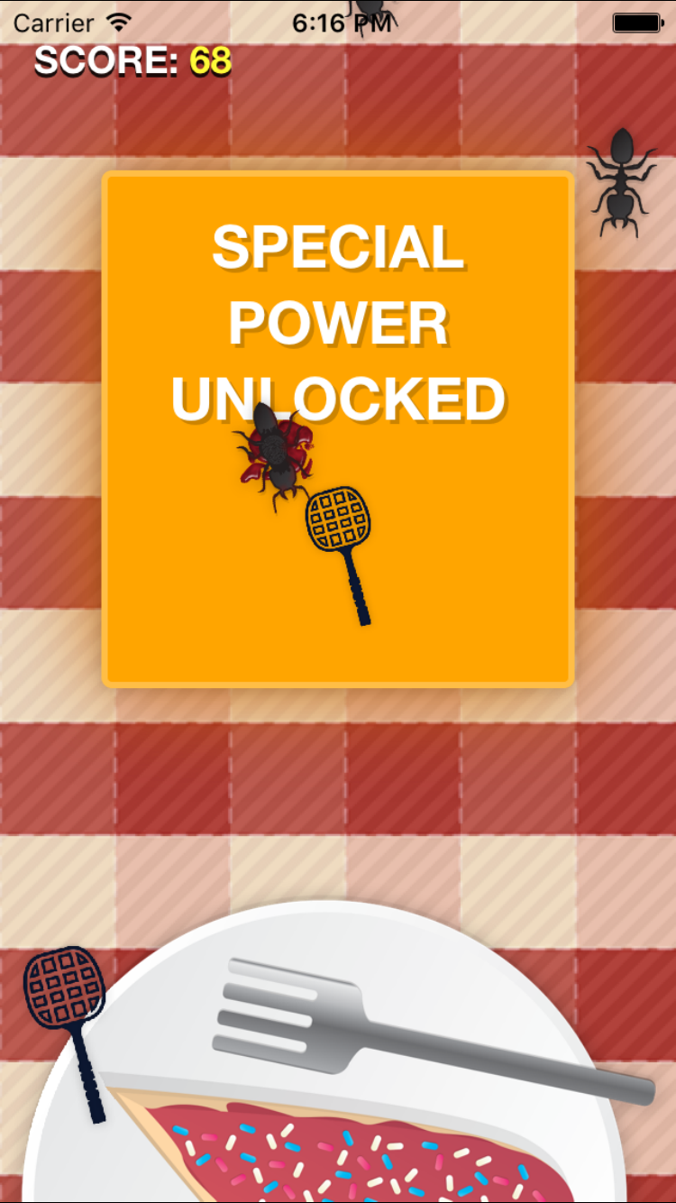 Screenshot of the special power being unlocked